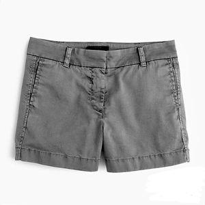 """J. Crew 3"""" Chino Shorts Gray"""
